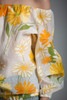 vintage 70s floral top blouse off the shoulder long sleeves yellow orange ONE SIZE S M L