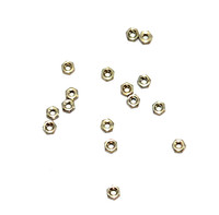 Hex Nuts; 1.2mm Thread Nickel Silver 100 count (SM422)