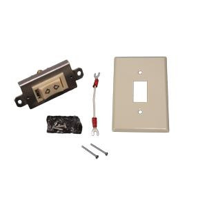 Momentary Rocker Switch Kit Standard Plate White 1800345 Ivory 1800344