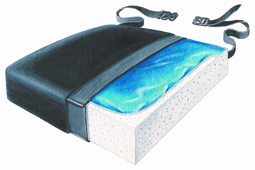 "Gel-Foam 16"" Cushion,Vinyl w/LSI Cvr    *HCPCS code # K0669"