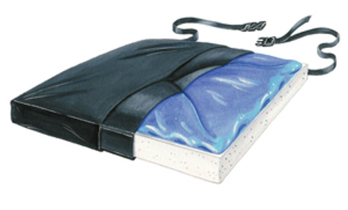 "Gel-Foam 18"" X Cushion, w/Coccyx Cutout w/LSI Cover"