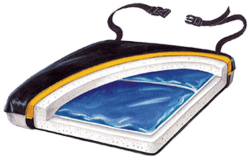 "Econo-Gel 18"" Cushion with Sheepskin Cover"