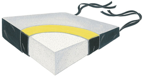 "Wedge Foam Firm Foundation 18"" Two Color Vinyl Cushion, 4x2"""
