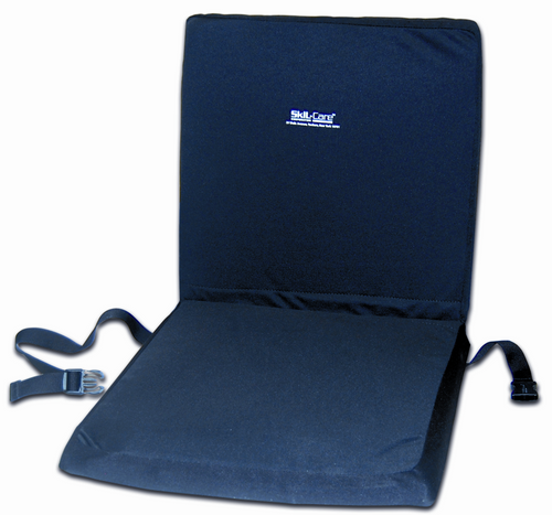 "Wheelchair 16"" Backrest Seat Combo w/X-Gel Seat Cushion"