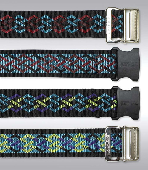 Nylon Gait Belt, Metal Buckle - Geo Pattern A