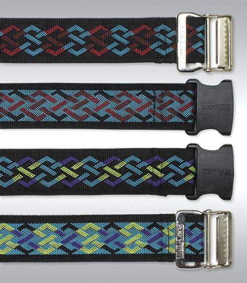 Nylon Gait Belt, Delrin Buckle - Geo Pattern C