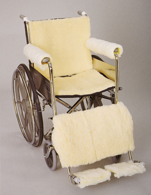 Wheelchair Sheepskin Footrest Pads