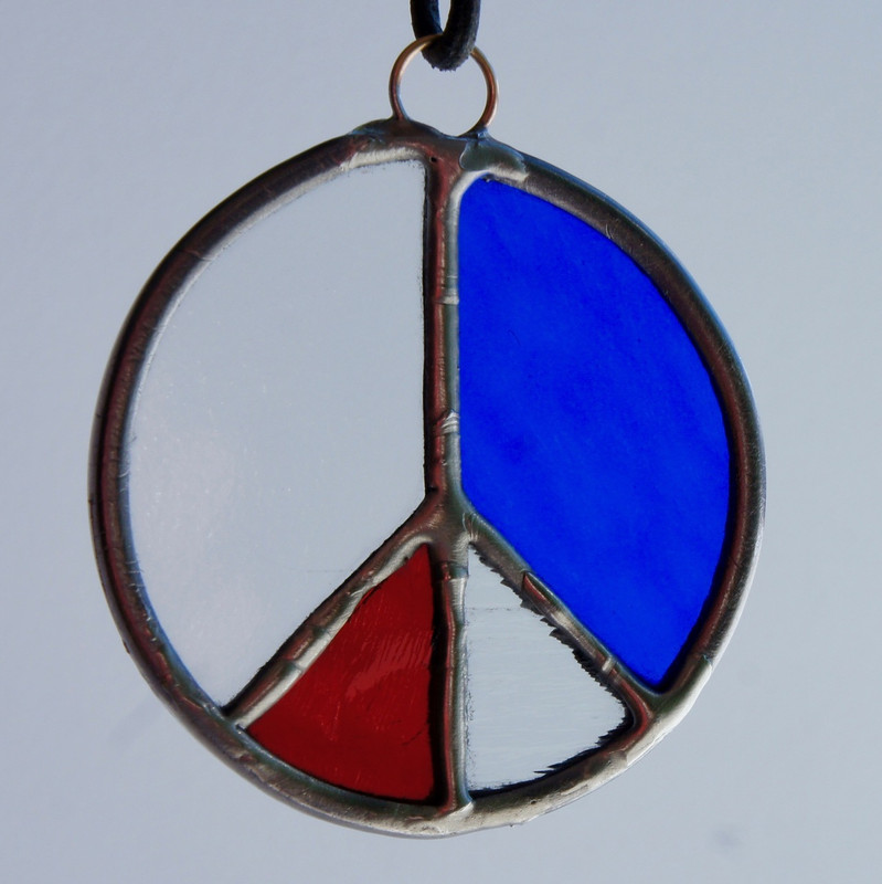 Stained Glass Peace Sign 73