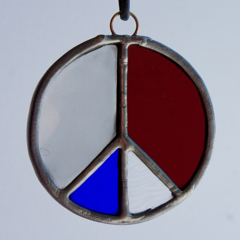 Stained Glass Peace Sign 74