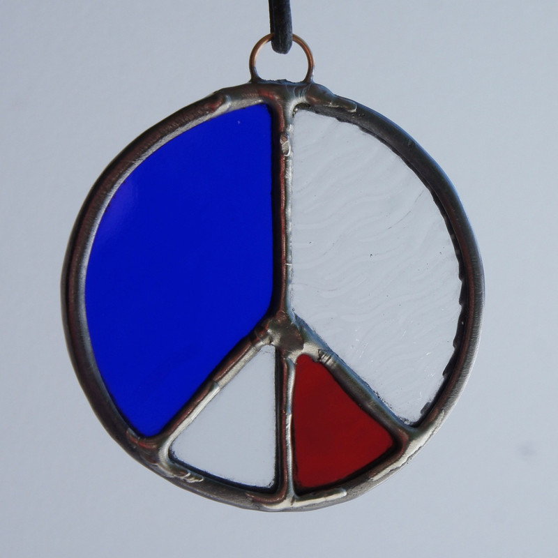 Stained Glass Peace Sign 76