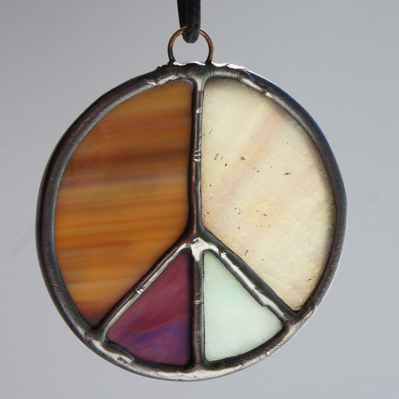 Stained Glass Peace Sign 93