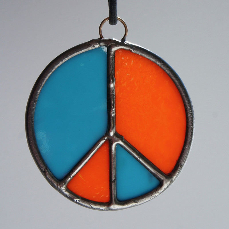Stained Glass Peace Sign 98