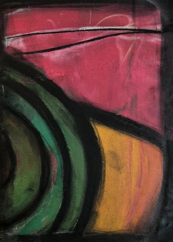 Abstract screen print 015