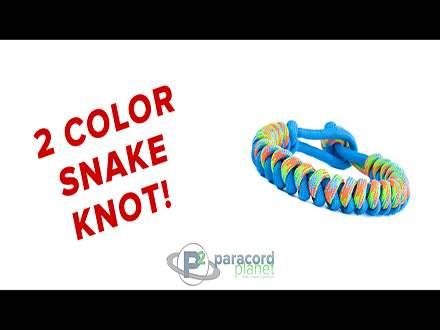 2 Color Snake Knot Bracelet Video Tutorail