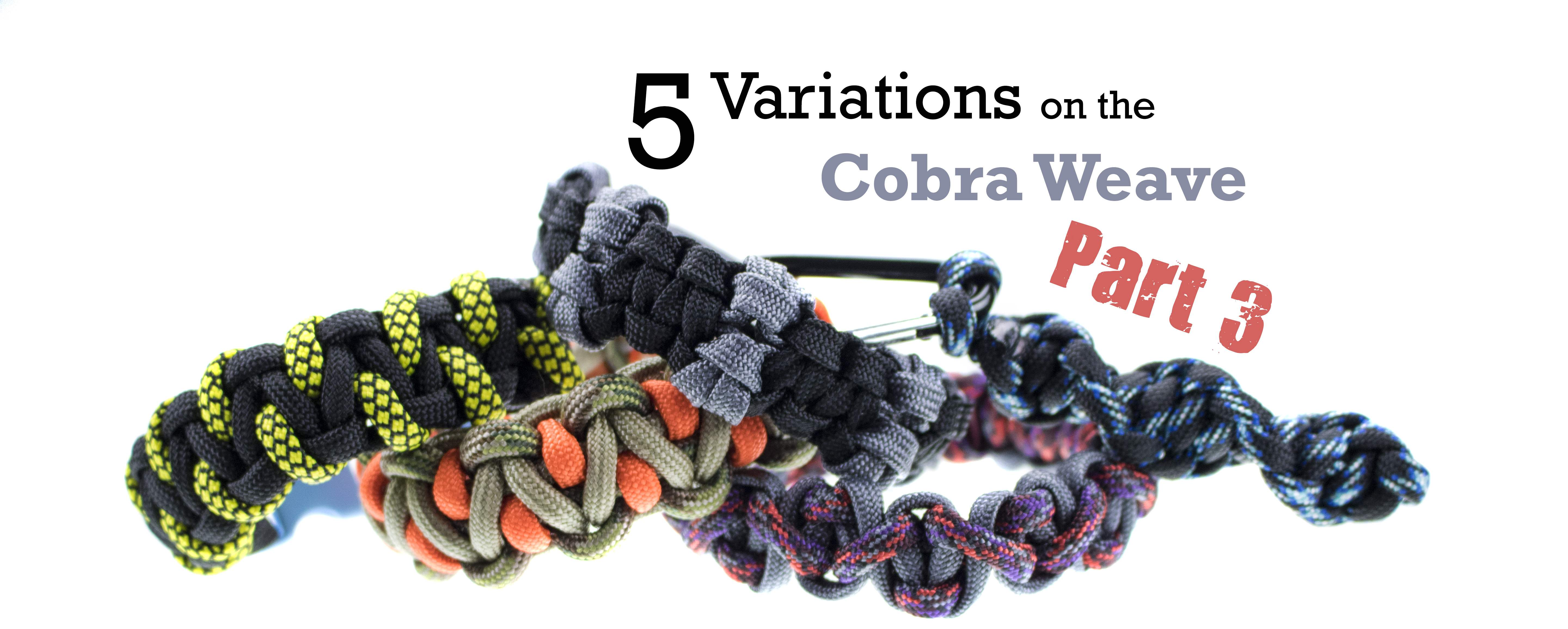 5 Easy Variations on the Cobra Paracord Weave