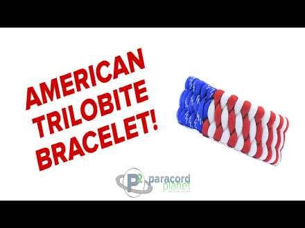 American Flag Trilobite Paracord Bracelet Tutorial