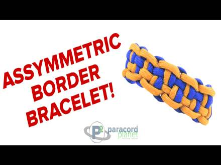 Assymetric Border Paracord Bracelet How to video