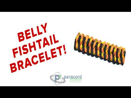How to make Belly Fishtail Paracord Bracelet Video