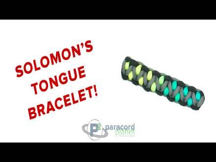 Solomons Tongue Paracord Bracelet Video Tutorial