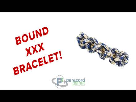 Bound XXX Paracord Bracelet video tutorial