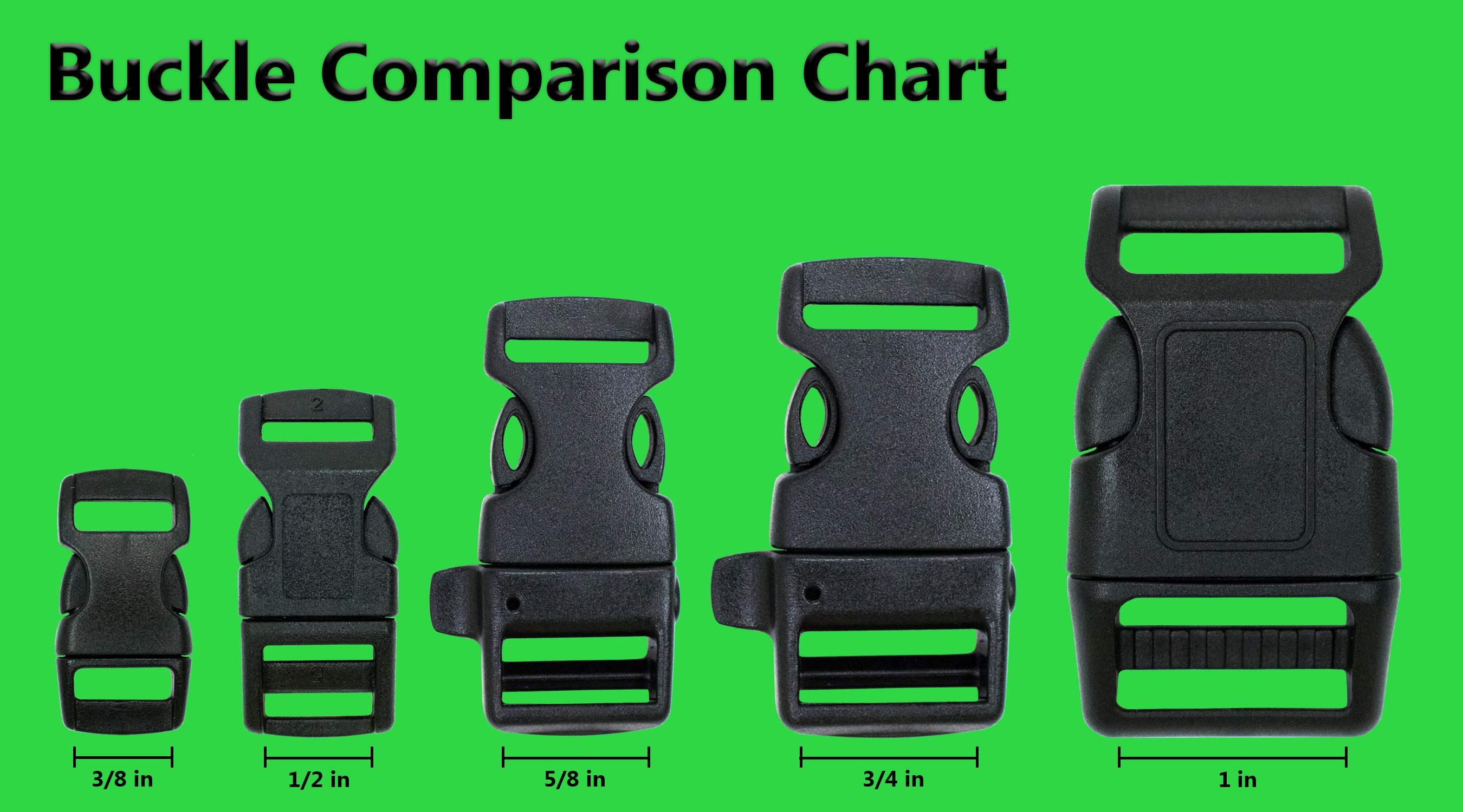 Buckle size comparison chart