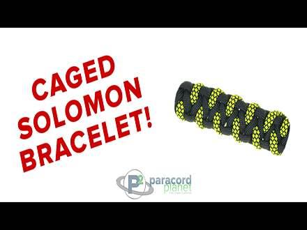 Caged solomon paracord bracelet tutorial
