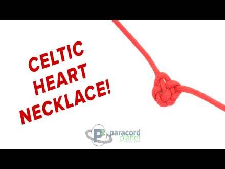 Celtic Heart paracord necklace tutorial video
