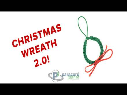 Paracord Christmas Wreath Tutorial Video