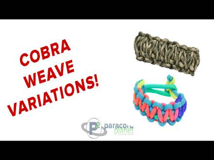 Variations on the Cobra Weave - King Cobra and No Buckle Tutorials