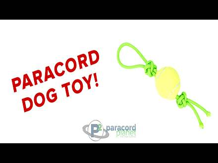 Paracord Dog Toy with Paramax Tutorail Video