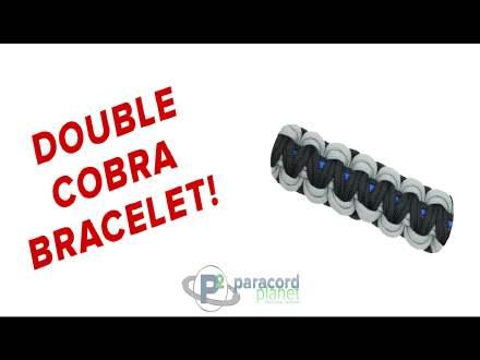 Double Cobra Paracord bracelet video tutorial