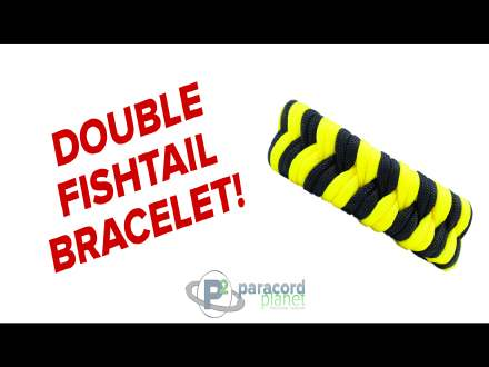 Double Fishtail paracord bracelet how to video tutorial
