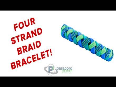 Four Strand Braid Bracelet paracord tutorial video