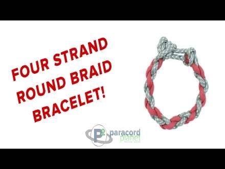 Four Strand Round Braid Paracord Bracelet Tutorial Video