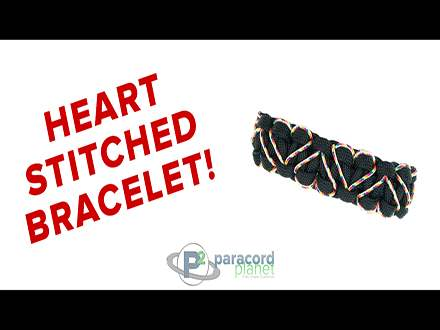 Heart stitched cobra bracelet tutorial