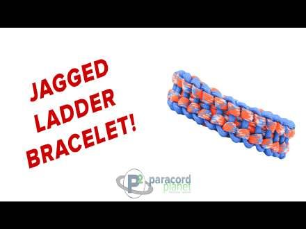 Jagged Ladder paracord bracelet video tutorial