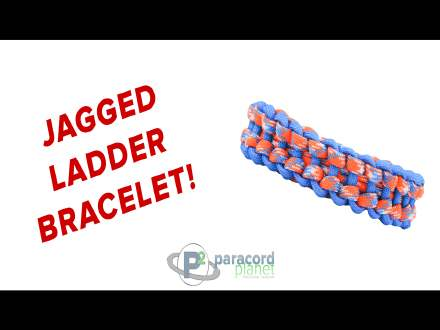 Jagged Ladder paracord bracelet video tutorial