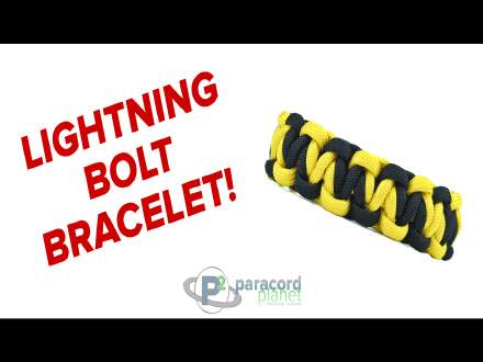 Lightening Bolt paracord bracelet tutorial video