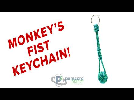 How to make a Paracord Monkey Fist Key Chain