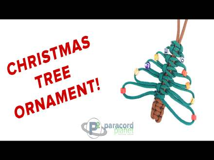 Paracord Christmas tree how-to video tutorial