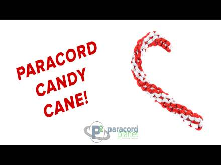 How to make a Paracord Candy Cane tutorial video