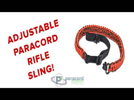 Adjustable paracord rifle sling video tutorial