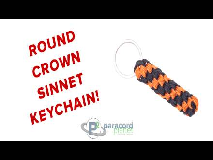 How to make a Round Crown Sittet Paracord Keychain
