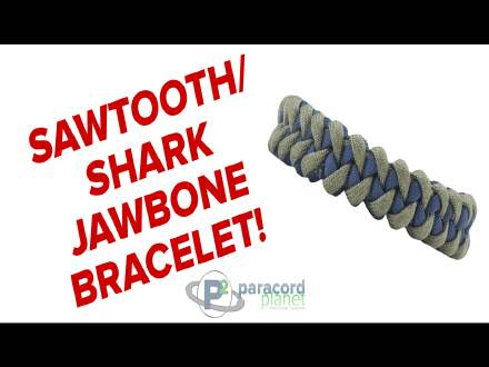 Sharktooth paracord bracelet how to video tutorial