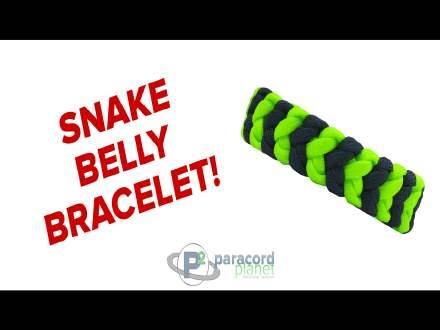 Snake Belly paracord bracelet tutorial video