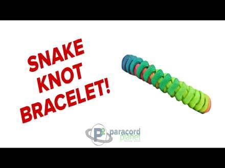 Snake Knot paracord bracelet tutorial video