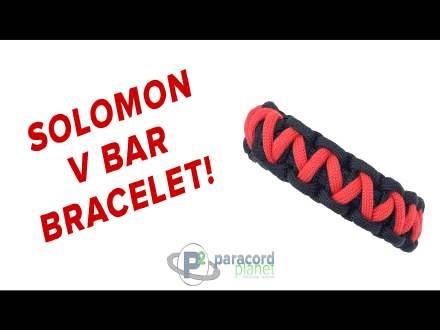 Solomon V Bar Paracord Bracelet Tutorial Video