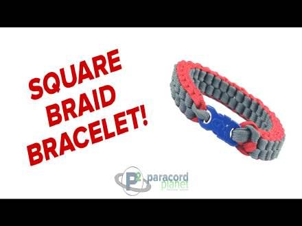 Square Braid paracord bracelet tutorial how to video