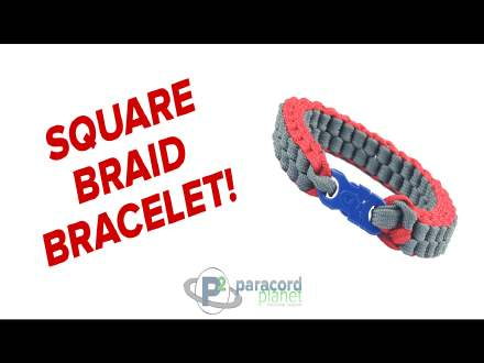 Square Braid paracord bracelet tutorial how to video