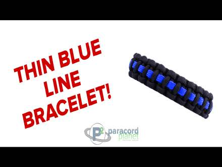 How to make a Thin Blue Line Paracord Bracelet Video
